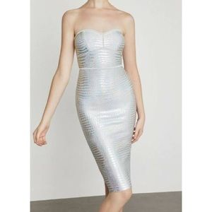 NWT BCBG Holographic Dress